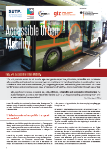 SUTP iNUA implementation guide #6: Accessible Urban Mobility